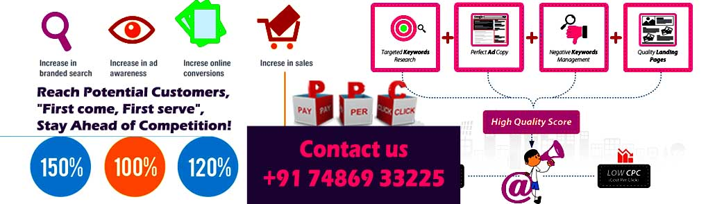 Adwords PPC Management in Bhopal for SME Business Web Internet Marketing MADHYA PRADESH